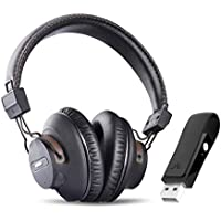 Avantree DG59 Plug & Play Wireless PS4 Gaming Headphones with Mic & Bluetooth USB Audio Transmitter Set for PC Desktop Computer, Chat & Music Simultaneously, No Delay, 40hrs Play Time