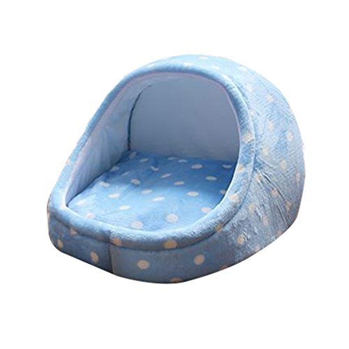 Amazon.com : Pet Waterloo Cat Sleeping Bag Pet Bed Semi-Closed Bed Small Pet Sleeping Pad Cat House Keep Warm Pet Supplies (Color : Blue, Size : 353525cm) ...