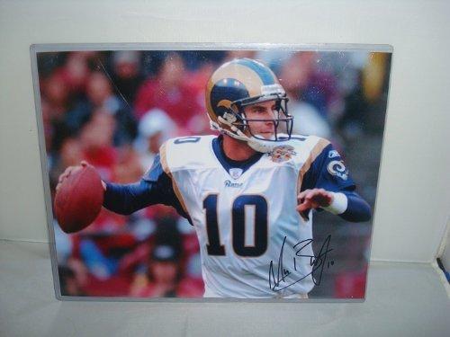 Marc Bulger Signed Photograph, St. Louis Rams -