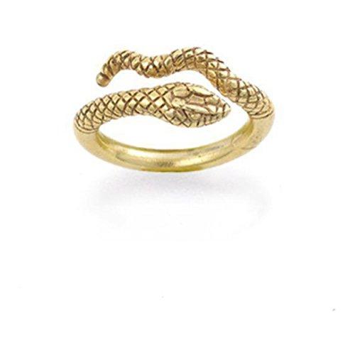 Antique Finish Cleopatra Egyptian Serpent Cobra Snake Ring Textured Adjustable (Cleopatra Ring Band)