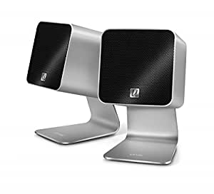 Ultralink UCube - Altavoces portátiles (2.0, Incorporado, 30W, Alámbrico, USB, 1m) Plata