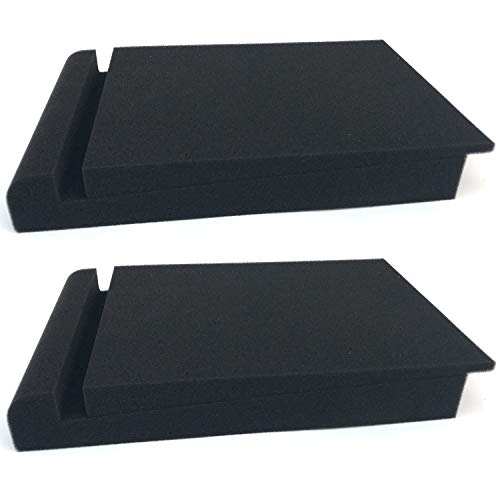 Monitor Isolation Wedge Pad - 2 Pack Acoustic Isolation Pads, Studio Monitor Speaker Isolation Foam Pads, Pair of Two High Density Studio Monitor Isolation Pads Pair For 5 Inch Monitors