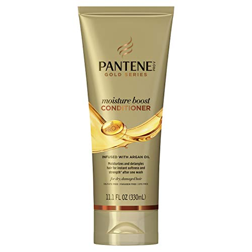 Pantene Pro-v Gold Series Moisture Boost Conditioner Infused with Argan Oil, 11.1 Fluid Ounce