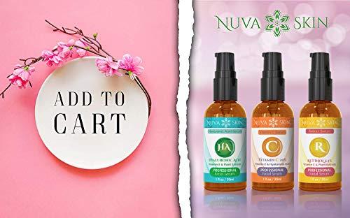 41HsgyX3L8L - Nuva Skin Facial Serums 3 Pack- Vitamin C Serum, Retinol Serum & Hyaluronic Acid Serum- All-Natural Face Serum