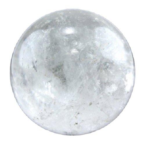 SHIVANSH CREATIONS Healing Crystals Naturals Gemstone Hand Carved Aura Balancing Metaphysical White Crystal Quartz Sphere Ball 60-70 ()