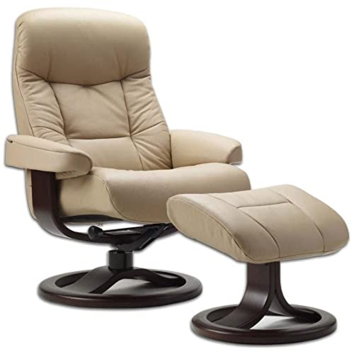 Leather Norwegian Ergonomic Scandinavian Lounge Reclining Chair Fjords 215  Small Muldal Recliner Furniture Nordic Line Genuine Cappuccino Leather  Walnut ...
