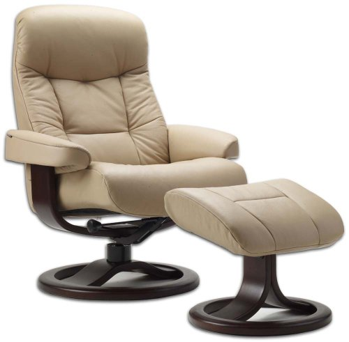 Beautiful Amazon.com: Leather Norwegian Ergonomic Scandinavian Lounge Reclining Chair  Fjords 215 Small Muldal Recliner Furniture Nordic Line Genuine Cappuccino  ...