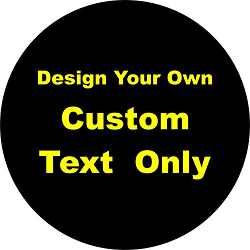 Tire Cover Central Custom Text Only Lettering Spare Tire Cover Jeep RV Camper Trailer(Drop Down Size menu -