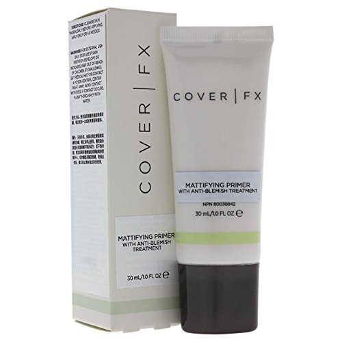 COVER FX Mattifying Primer with Anti-Acne Treatment Full Size Primers at amazon