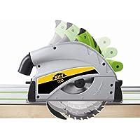 Scie circulaire plongeante Kity Scheppach 550,1200W avec rail de guidage 1.40 m et accessoires