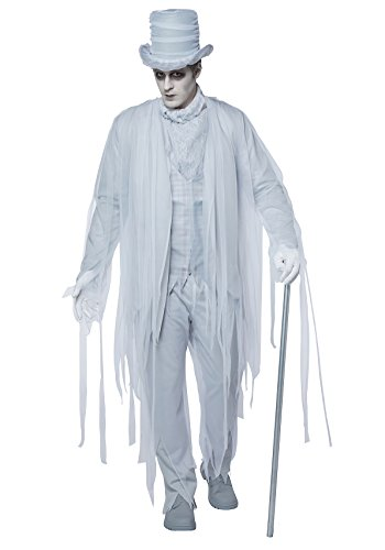 California Costumes Men's Haunting Gentleman Adult Man, White/Gray, Extra Large -
