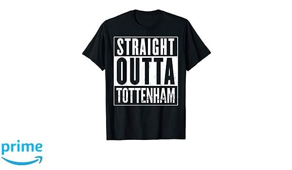 05d3d87a Amazon.com: Mens Straight Outta Tottenham UK Funny T-Shirt: Clothing