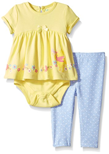 Disney Baby Girls' Winnie the Pooh Tutu Bodysuit with Pant Set, Yellow, 6/9M