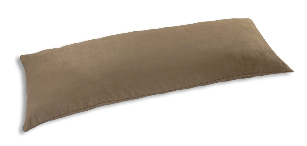 Newpoint International Inc Microsuede Body Pillow Cover With Double Sided Zippers, Camel