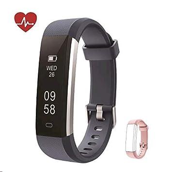 Kingsky Fitness Armband mit herzfrequenz Fitness Tracker mit Pulsmesser Wasserdicht IP67 Aktivitätstracker Pulsuhren Bluetoot