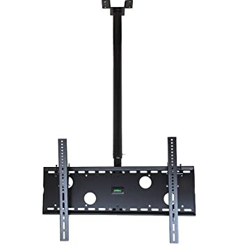 tv ceiling mount for 32 to 70 inch rotate and adjustable mast 55 plasma monitor drop bracket