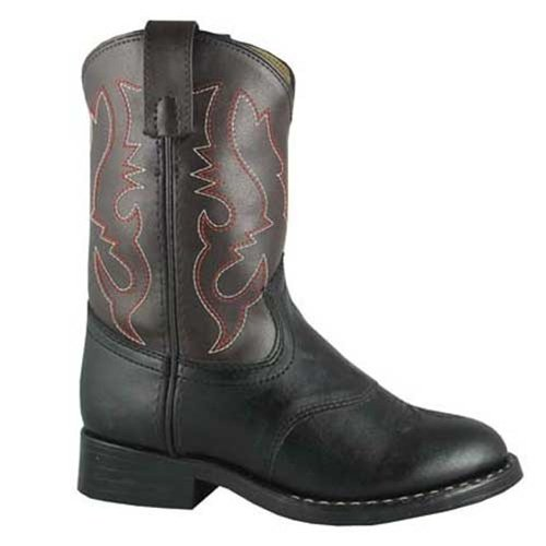 Smoky Mountain 1110 Boy's Diego Boot, Black/brown, 07.0/R