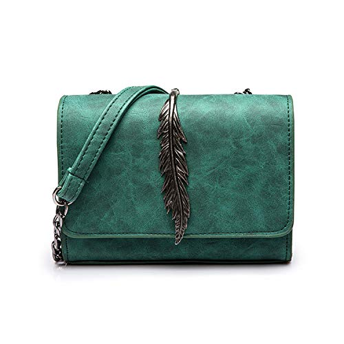 Leaves Decorated Mini Flap Bag Suede PU Leather Small Women Shoulder Bag Chain Messenger Bag