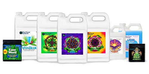 Blue Planet Nutrients Farmer's Pride Organic Blend High Yield System | Grow Herbs Vegetables Fruits Flowers | Hydroponic Soil Coco Coir Soil-Less | Complete Kit Bundle for All Plants & Gardens