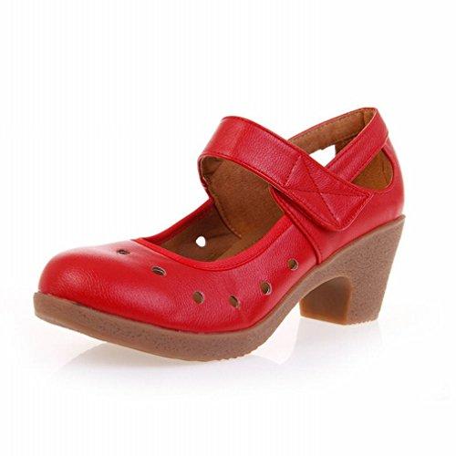 de Zapatos de Modern Suave Zapatos Baile Cuero Cuadrado 37 Baile Baile Inferior Zapatos Sandalias Tobillo Samba de Jazz de BYLE Oq6CpC