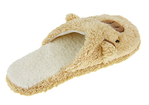 Warm Pig Coral Antiskid Size Fleece House Indoor Slippers US Coffee 4 5 Sweet Teen For Girls Shoes Fakeface 1Uw5gg