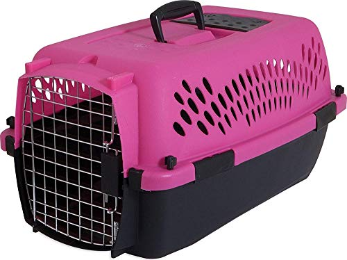 Aspen Pet Porter Heavy-Duty Pet Carrier,Dark Pink/Black,UP TO 15 LBS ()