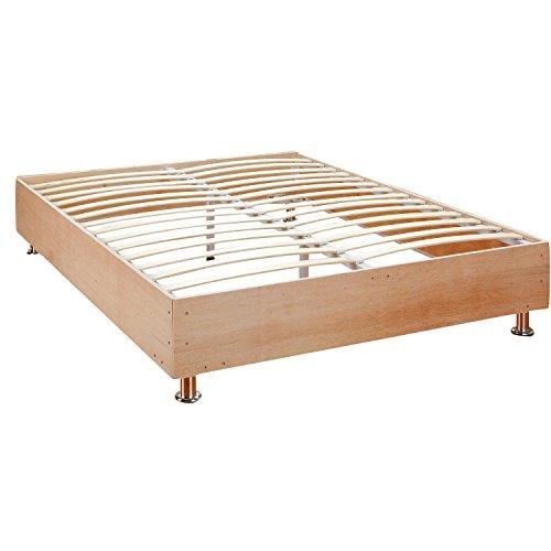 amazoncom classic brands europa deluxe wood slat platform mattress foundation bed frame king kitchen dining - Foundation Bed Frame