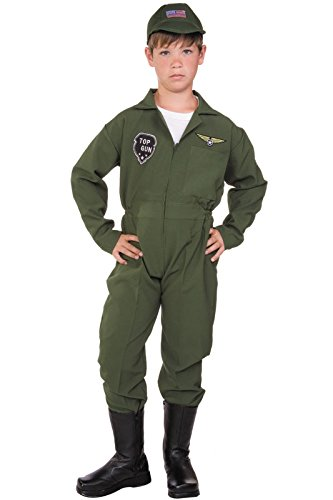 [RG Costumes Top Gun Costume, Green, Small] (Top 5 Halloween Costumes)