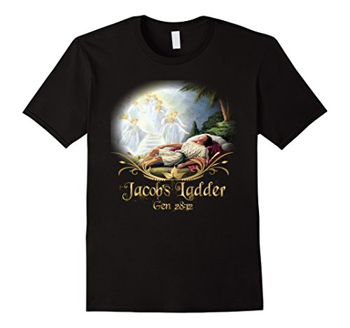 Jacobs Ladder T-Shirt Bible Verse Angel Heaven Witness