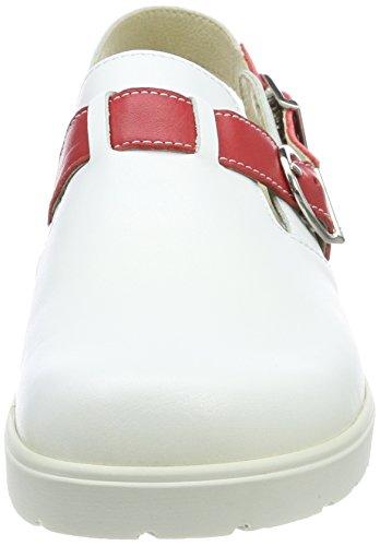 Mixte Blanc Iver Weiß Berkemann Pro Adulte Sabots 124 de Tec Weiß Travail Rot OaYwF