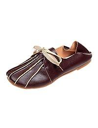Jesper Women Square Toe Soft Thin Fur Leather Bottomed Loafers Flat Working Dancing Uniform Dress Shoes