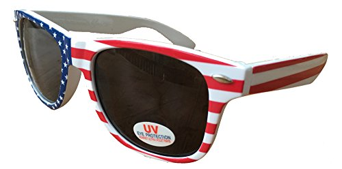 SoRock 4th Of July American Flag Sunglasses (One Pack)