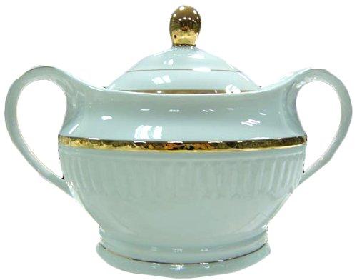 Enchanté Gold Collection Porcelain 3.7qt Soup Tureen with Lid