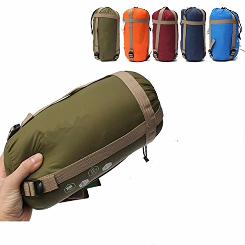 CAMTOA Outdoor Camping Sleeping Bag,Ultra-light Envelope Sleeping Bag for Travel Hiking - Spring, Summer & Fall Waterproof Sleeping Bag (Army green)
