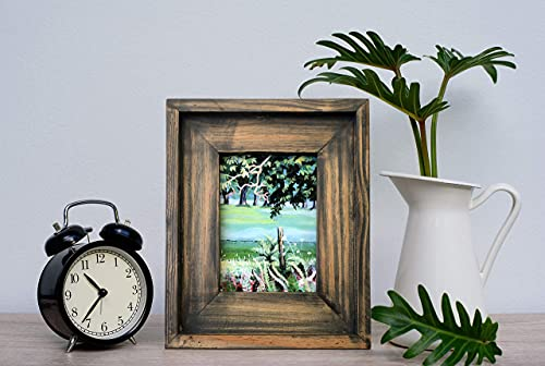 Fairwood Way Wooden Picture Frame - 5x7 Rustic Farmhouse Picture Frame Made from Distressed Pine Wood - Handmade Rustic…
