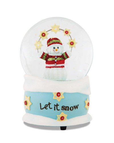 Pavilion Gift Company The Sockings 93042 Snowman 100mm Musical Water Globe Figurine, Let it Snow, 6-Inch