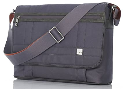 f4a5cdb56be Image Unavailable. Image not available for. Color: Knomo Brixton Collection  Saxby Laptop Messenger Bag Backpack, Slate Matte