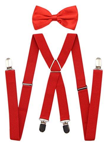 JAIFEI Mens Back Suspenders Bowtie