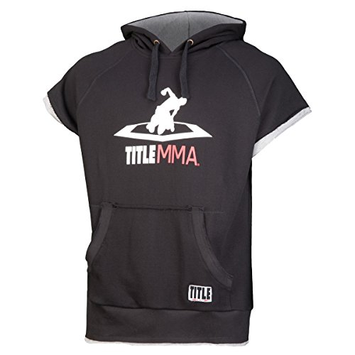TITLE MMA Terry Sleeveless Hoody, Black, Medium