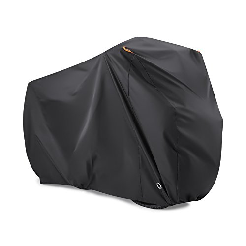 Bike Cover for 2 Bikes, Beeway 190T Nylon Waterproof Bicycle Cover Anti Dust Rain UV Protection for Mountain Bike / Road Bike with Lock-holes Storage Bag by