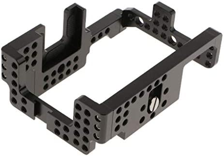 perfk ソニーA7II A7RII A7SII ILDCカメラ用カメラケージビデオ安定化アクセサリ-アルミニウム合金材料製-黒
