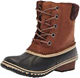Sorel Women's Slimpack Lace II Snow Boot, Burro, Cattail, 7.5 M US