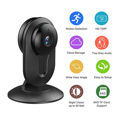 Wireless Home Security Camera,Wandwoo WiFi Security Camera,Indoor IP Surveillance Security Camera with Night Vision,Motion Detection,Two-way Audio,for Home/Office/Baby/Nanny/Pet Monitor,Cloud Service Review
