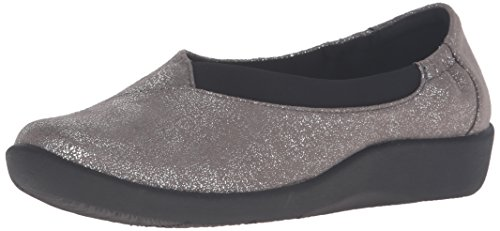 Sillian Jetay Metallic mujer de soporte Synthetic Silver cloudsteppers Clarks t4fqEwn