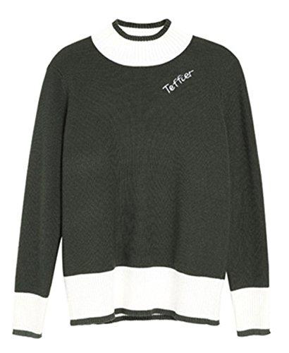YOSICIL Femme Printemps Pull en Tricot sous-Pull Chemises Casual Pull-Over Couleur Compl