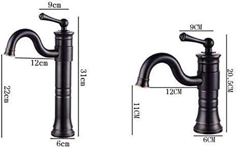 水タップブラック蛇口銅レトロ蛇口ホットとコールドのバスルームの洗面台の蛇口360&度;実用的なカウンター盆地洗面器の蛇口セットの上に回転