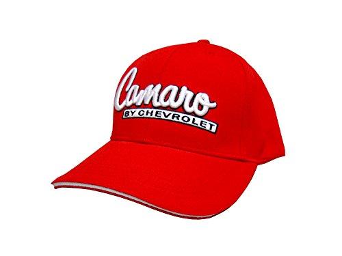 Camaro Yenko (Hot Shirts Camaro By Chevrolet Hat: Red - Chevy RS SS Z/28 Yenko Motion COPO)