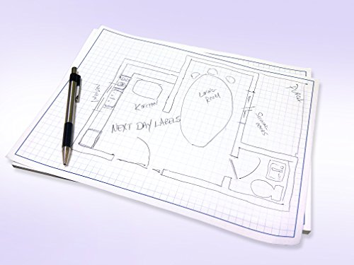 Quadrille Grid Blueprint and Graph Paper (11x17'') by Next Day Labels (Image #1)