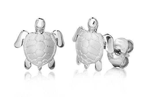 Sterling Silver Turtle Honu Stud ()