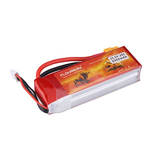 FLOUREON 3S 11.1V 2200mAh 25C with XT60 Plug LiPo Battery Pack for RC Evader BX Car, RC Truck, RC Truggy RC Airplane UAV Drone FPV